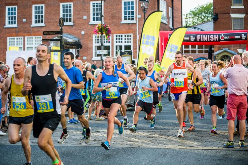 The 10K course takes runners through the town's medieval streets and past some of Ludlow's finest landmarks