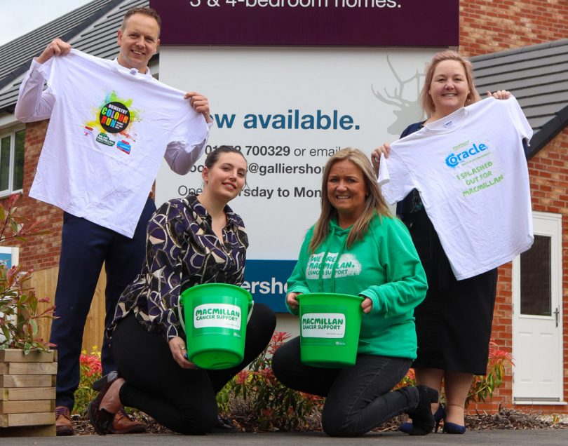 Pictured from left, Craig White and Louise Dwyer of Galliers Homes  with Kate Thomas of Macmillan Cancer Support and Sharon Taylor of Galliers Homes