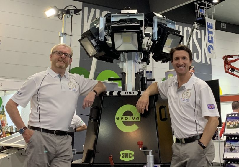 Phil Winnington, International Business Director, and Chris Morris, CEO, with the SMC TL90 Evolve +