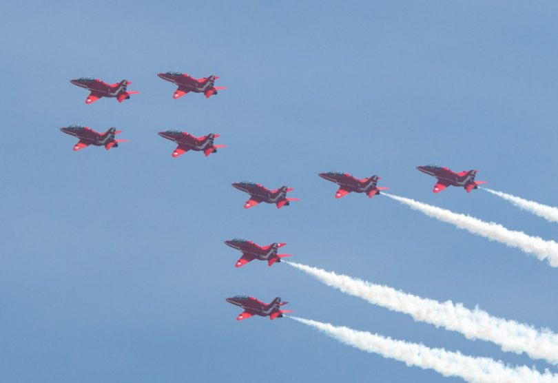 The Red Arrows will once again display at the RAF Cosford Air Show. Photo: Steven Oliver