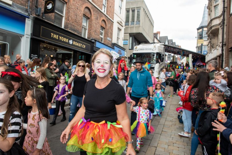 It was smiles all around as the parade filled the streets of Shrewsbury town centre. Photo: Steven Oliver Photography