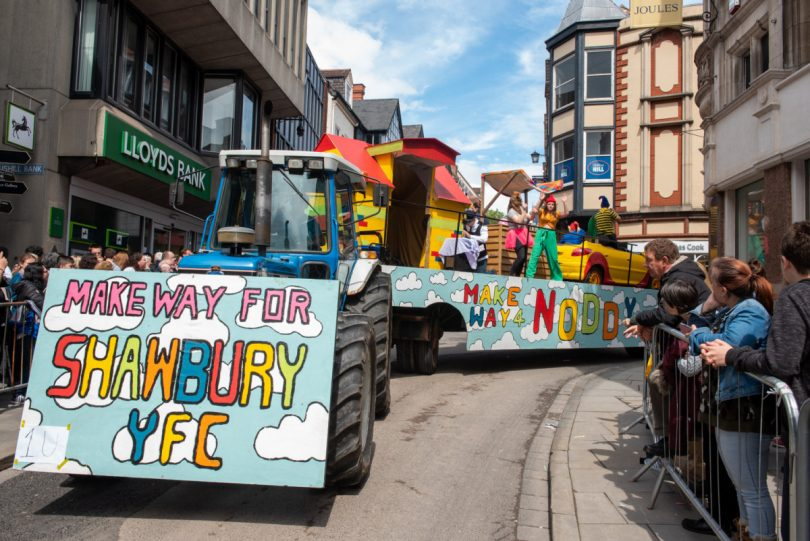 Shawbury Young Farmers take part in the parade with their Noddy float. Photo: Steven Oliver Photography