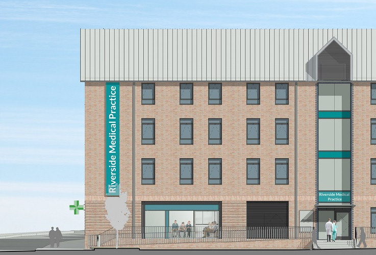 An artist's impression of how the new Riverside Medical Practice will look at The Tannery development