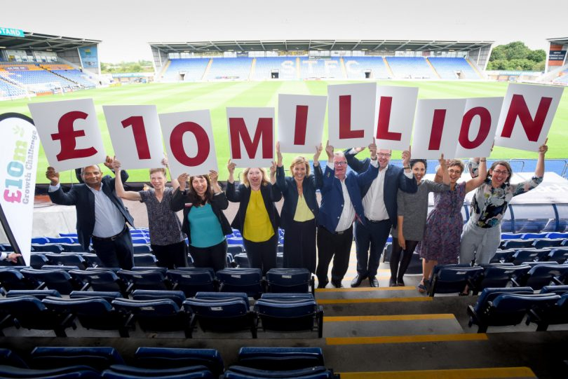 Marches Growth Hub chairman Paul Hinkins and colleagues launch the £10million Growth Challenge