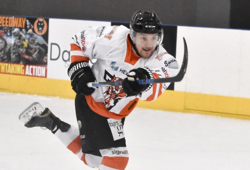 Joe Aston has signed up to return to Telford Tigers. Photo: Telford Tigers / Steve Brodie