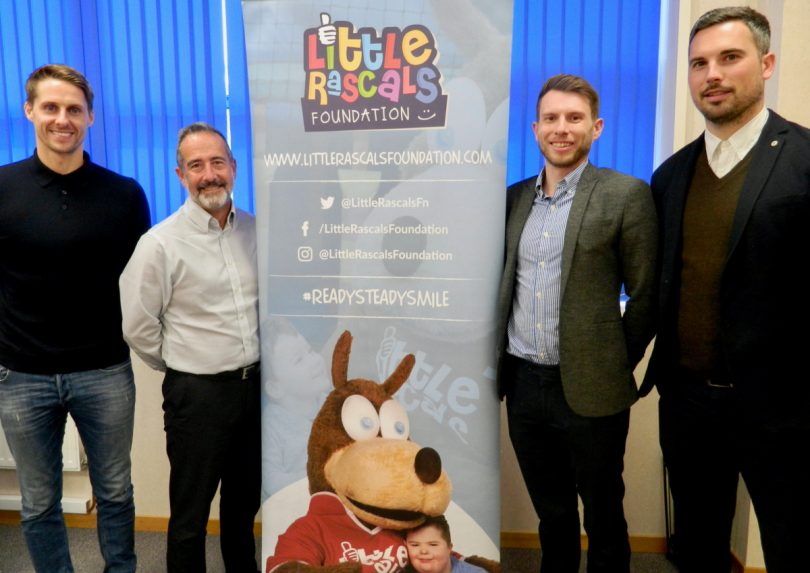 Dave Edwards, Mitch Gough, Ben Wootton and Steve Parry are looking to add to the services offered in Shropshire by the Little Rascals Foundation