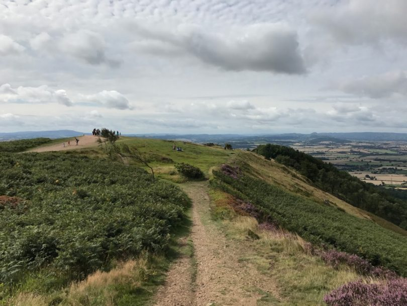 The Wrekin is a popular visitor destination for walkers and families