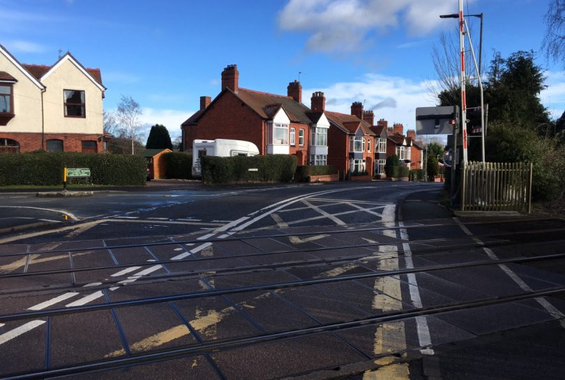 The surface of Whittington level crossing is to be upgraded. Photo: Network Rail