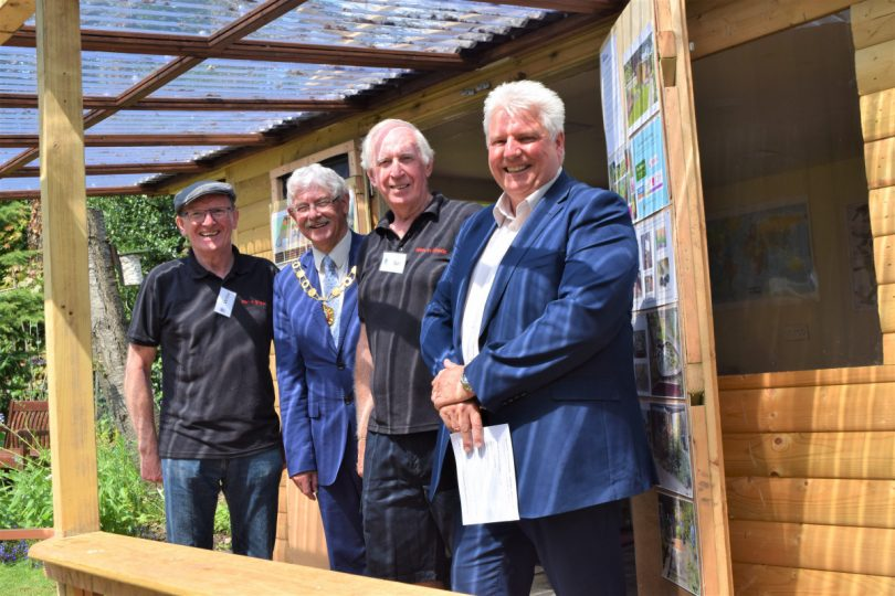 Willie and Sam (Men in Sheds) with Mayor Stephen Reynolds and Wayne Gethings