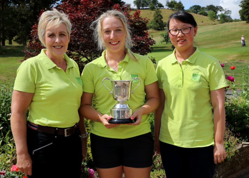 Winners of The Mary Black Cup: Alison Grove, Imogen Huxley and Jing Reade