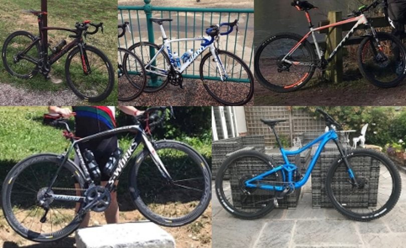 High value bicycles were stolen