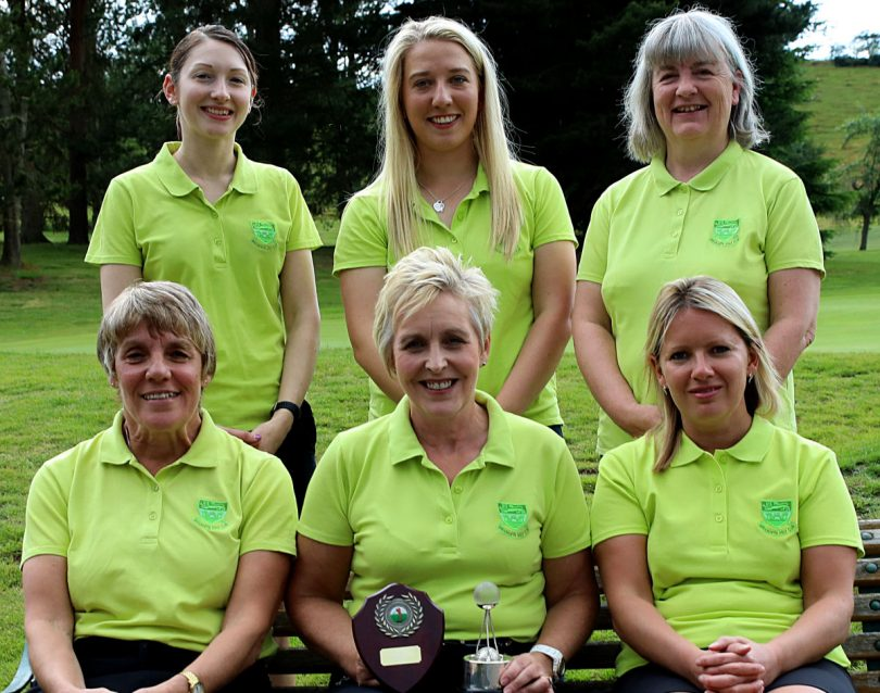 Ladies Scratch League Winners (Anne Jarvis Trophy) 2018: Helen Fowler, Imogen Huxley, Stephanie Overton, Angela Hinton, Alison Grove and (Capt.) Laura Morris