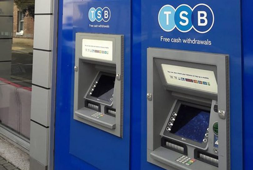 The robbery took place at a cashpoint outside the TSB Bank in Wellington. Photo: West Mercia Police