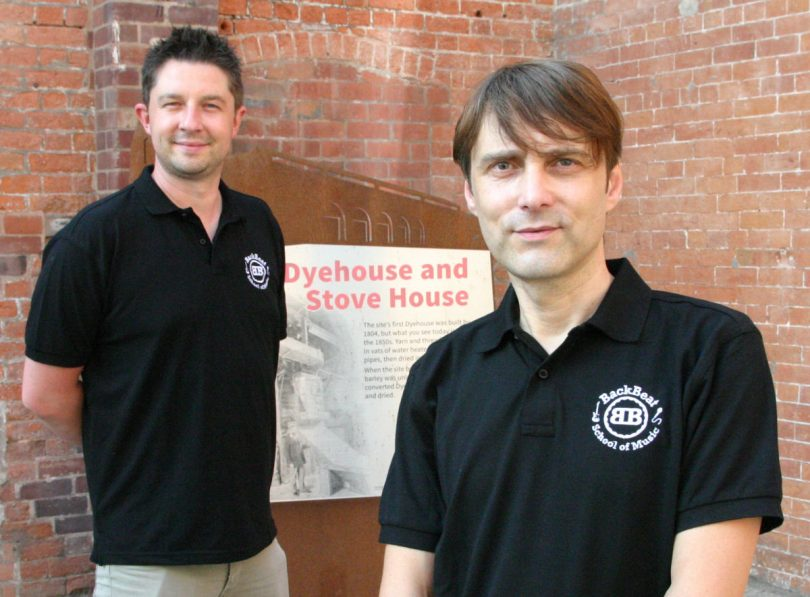 Backbeat Music School is the brainchild of Adam Knight and Ian Fourie