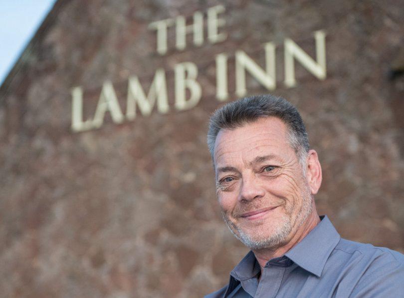 Publican Lance Pettet outside The Lamb Inn