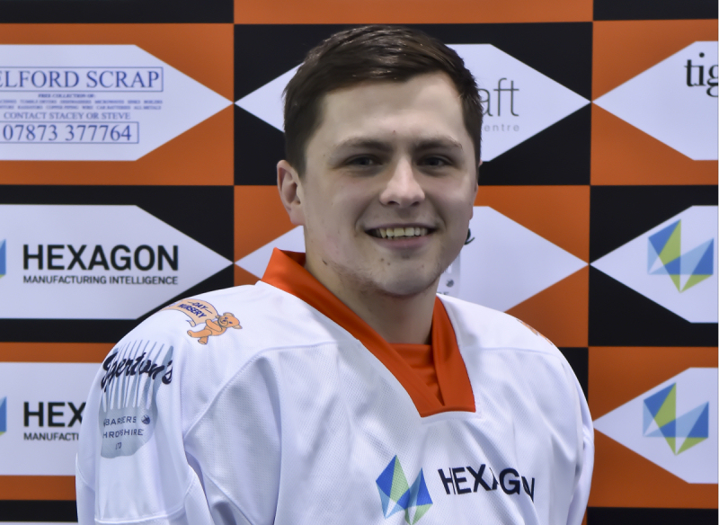 James Smith has signed to Telford Tigers for the new season. Photo: Telford Tigers / Steve Brodie