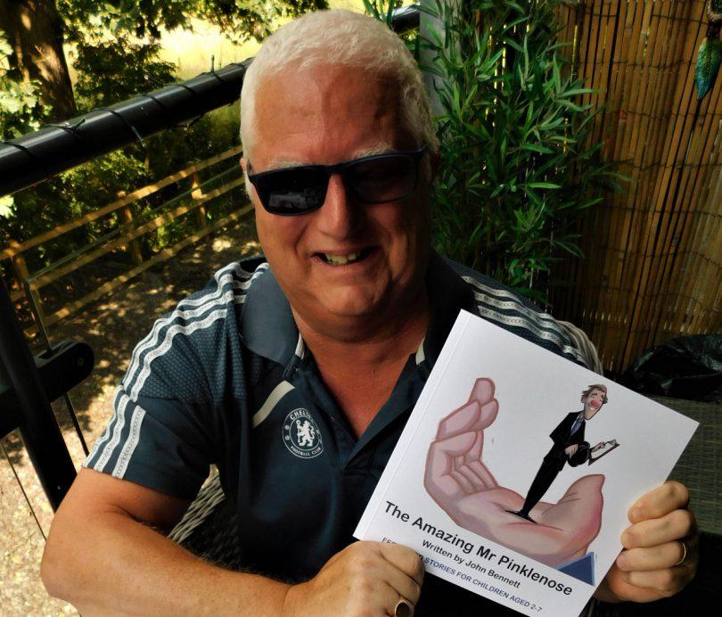 John Bennett brings Mr Pinklenose to life in his new book