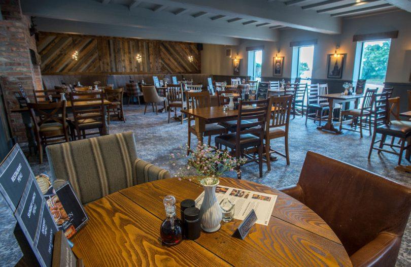 The new dining room inside The Lamb Inn