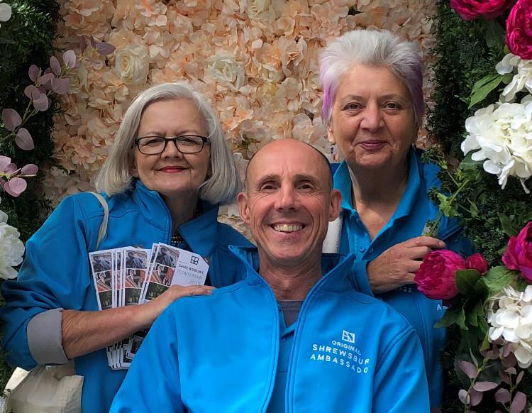 Shrewsbury Ambassadors Fiona Checkley, Richard Griffith and Maggie Love