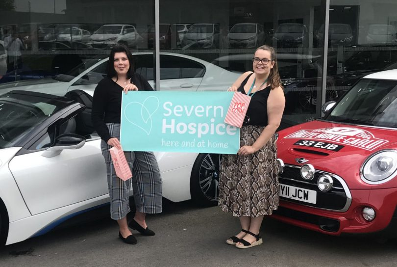 Georgie Dixon, marketing and event coordinator at sponsors Rybrook Shrewsbury with Hannah Gamston, event manager at Severn Hospice