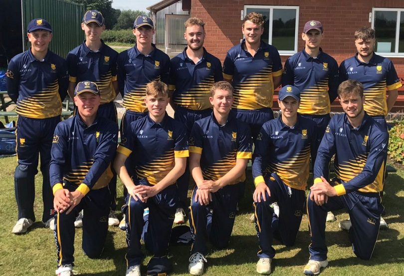 Shropshire's Academy side line up before their most recent match at Cheshire last month
