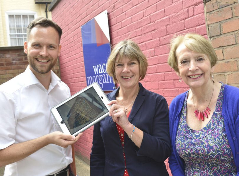 Simon Davies from Flex IT with Carolyn Freeman, business manager of Wace Morgan and Diana Packwood, managing partner Wace Morgan