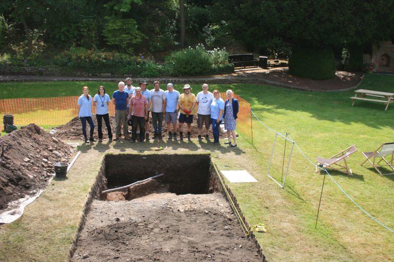 The excavation team at Shrewsbury Castle. Photo: Shropshire Council