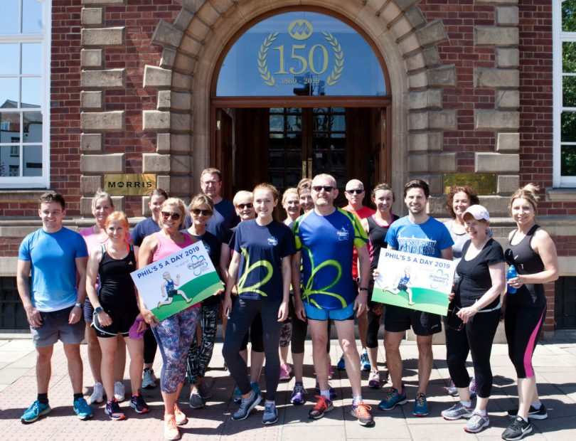 Staff from Morris Property, Morris Care, Morris Site Machinery and Morris & Company, who took part in one of the 5k runs in Shrewsbury