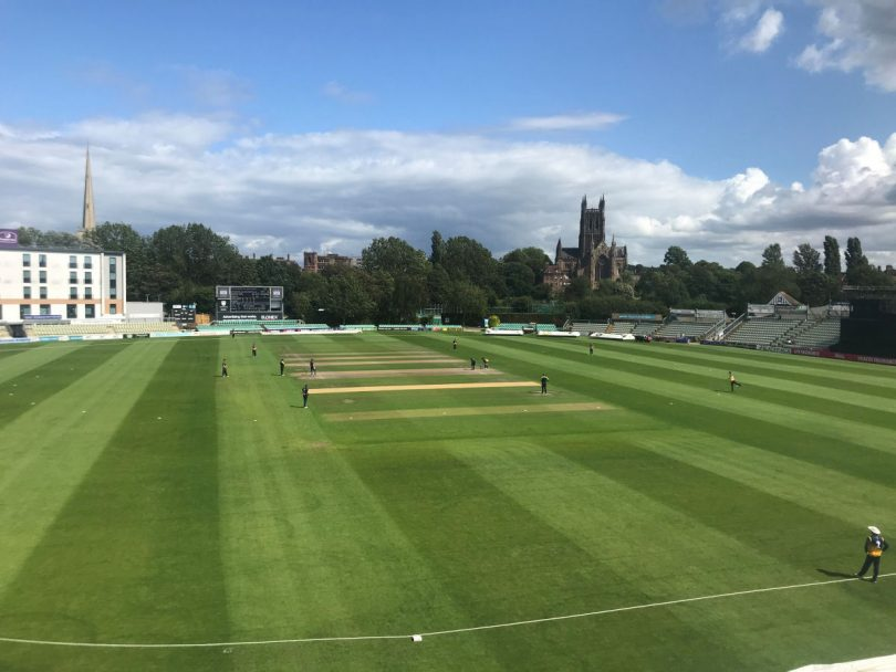Worcestershire's Blackfinch New Road ground hosted Shropshire's Academy side