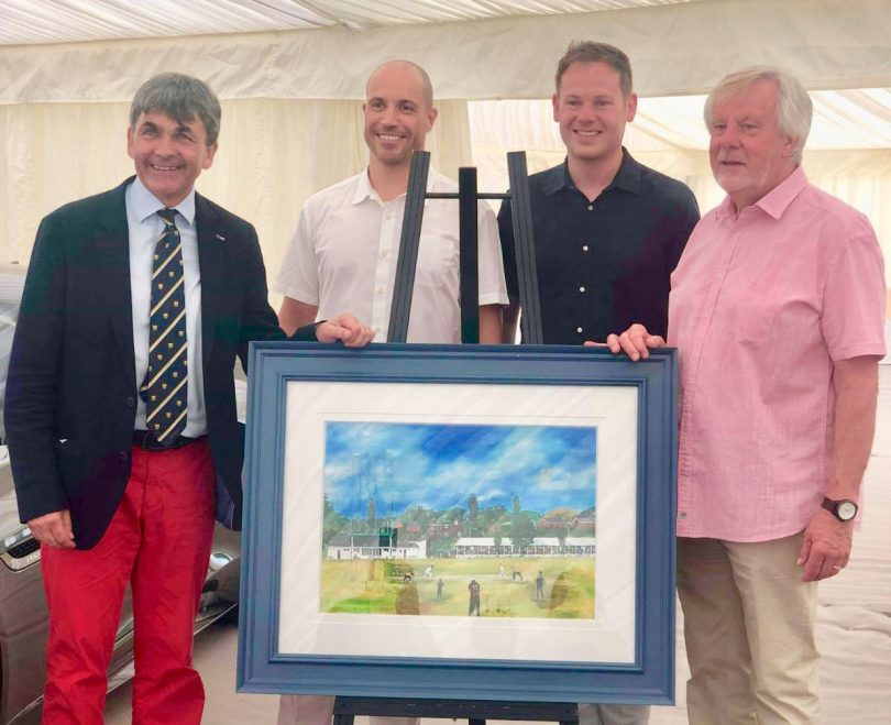 Pictured from left, Toby Shaw, Paul Corbett and Jonathan Soden of The Soden Collection and artist Rob Leckey