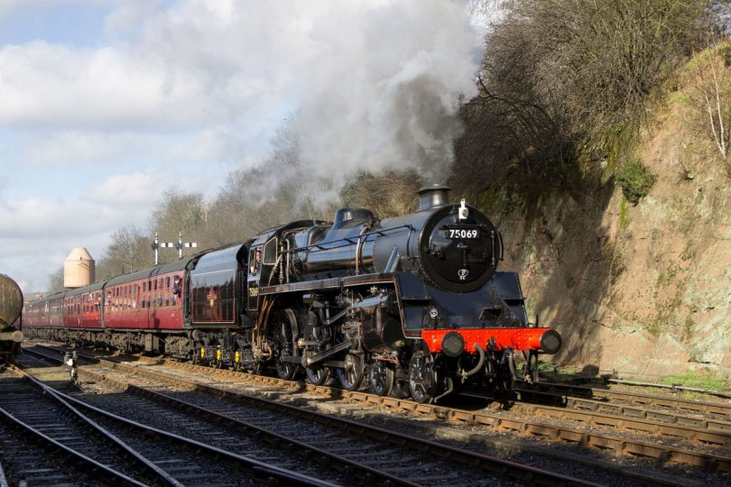 Locomotive Standard 4 No. 75069, which was damaged back in July and has now been repaired. Photo: CG Wright