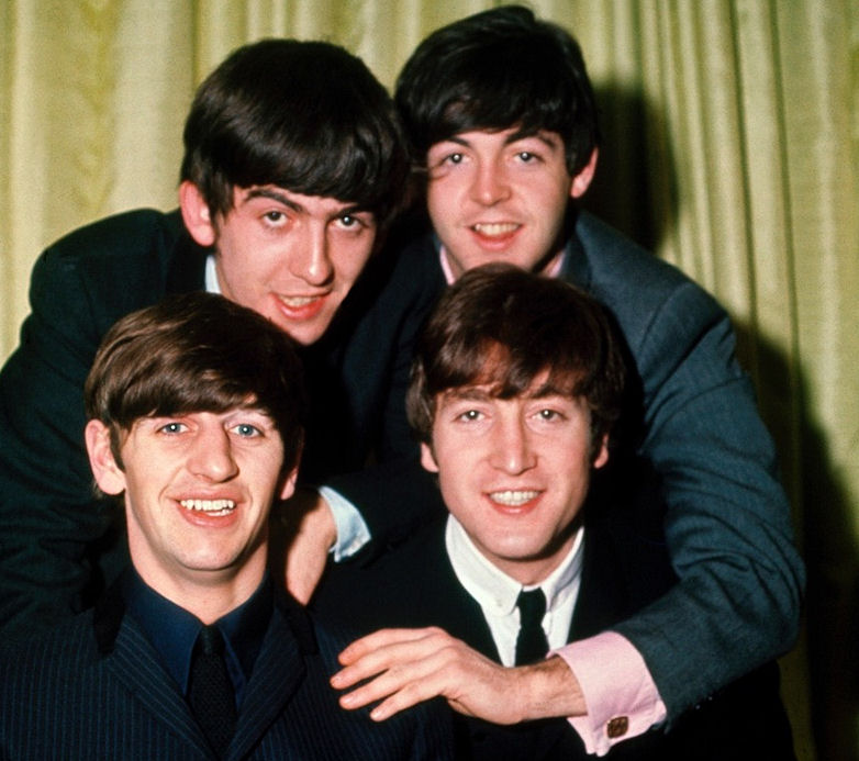 John Lennon with his fellow Beatles as global fame beckoned. Photo: Terrence Spencer