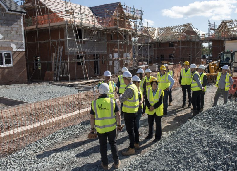 A 'Topping out' ceremony was attended by representatives from Shropshire Council and the local Parish Council