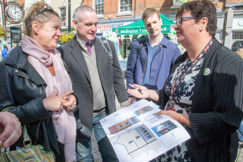 Wellington yesterday welcomed three judges as part of this year's Great British High Street competition