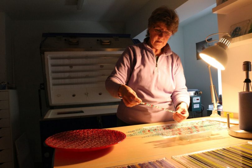 Jill at work in her studio