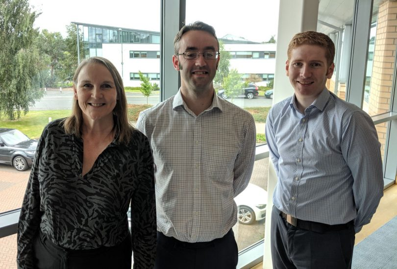 Julie alongside Tax Consultant, Charlie Thompson and Associate Tax Consultant David Whitfield