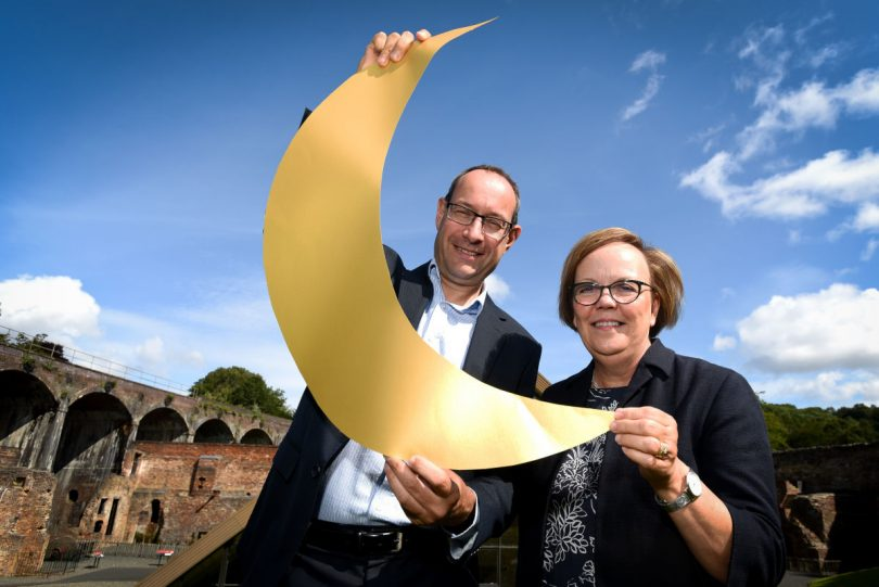 Neil Lloyd from FBC Manby Bowdler and Karen Davies Programme Manager, The West Midlands Museum Development Programme