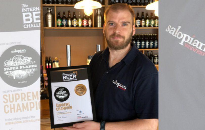 Salopian Brewery are celebrating their award win