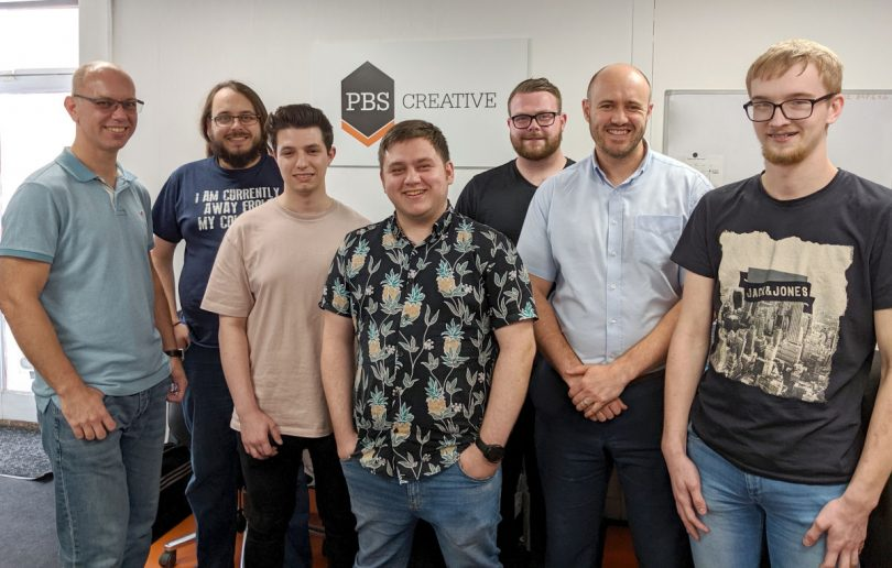 The magnificent seven at PBS Creative - Peter Barfield, Ben James, Harry Bellerson, Jordan Taylor, Jack O'Connor, Ben Simpson, Adam Smith