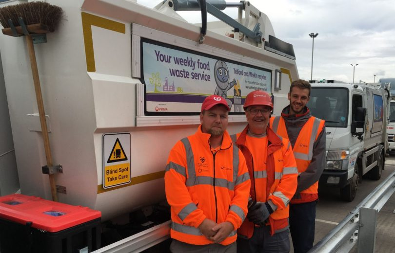 Dave, Mark & Lewis part of the Veolia recycling team in Telford. Photo: Telford & Wrekin Council