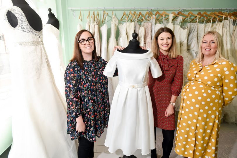 Stephanie Garrington, Bridal Reloved; Lizzy McNally, Cooper Green Pook; and Charlotte Nutting, FBC Manby Bowdler