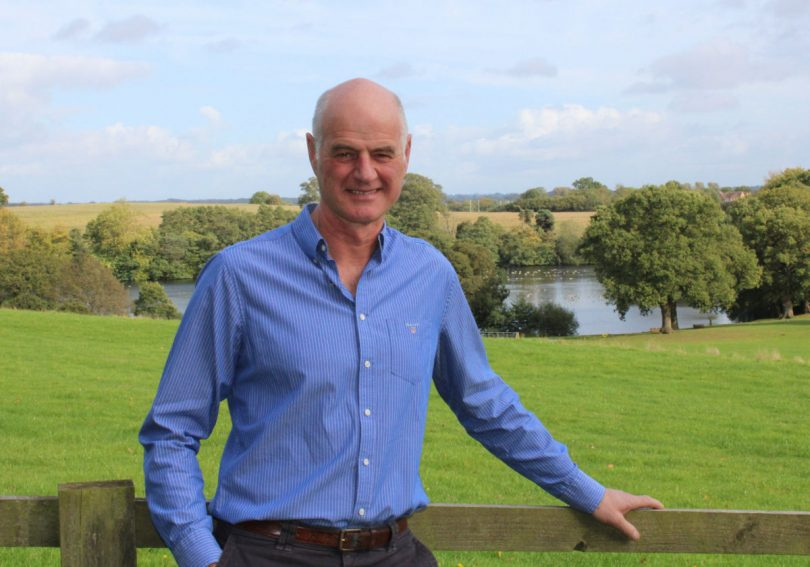 New president, John Gough, at Chetwynd Deer Park