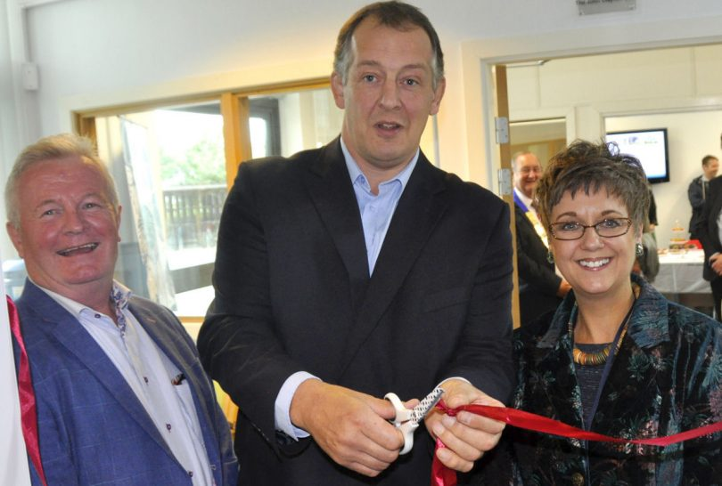Marches Growth Hub chairman Paul Hinkins, Shropshire Council Deputy Leader Steve Charmley and Marches Growth Hub Shropshire manager Emma Chapman