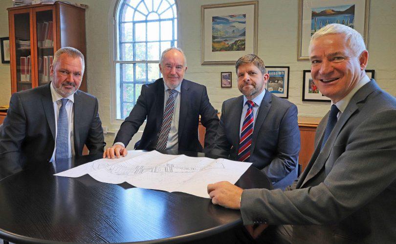 Gerald Rogers - construction director, Howard Thorne - chairman, Richard Shackleton - managing director, Richard Bowler - technical director