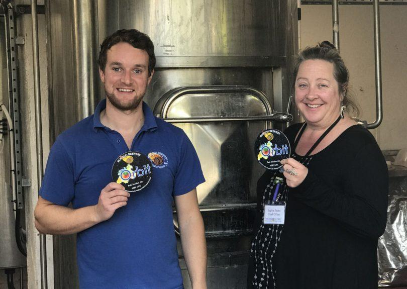 Steve Preston of Rowton Brewery and Sophie Eades of Wellington Orbit