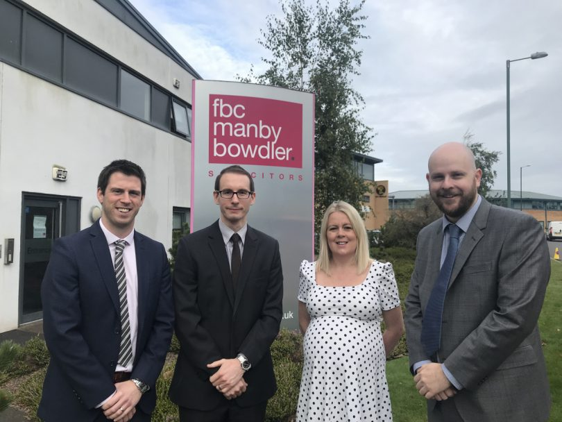 Adam Davies, David Phillips, Charlotte Nutting and Andy Ward of FBC Manby Bowdler's commercial property team