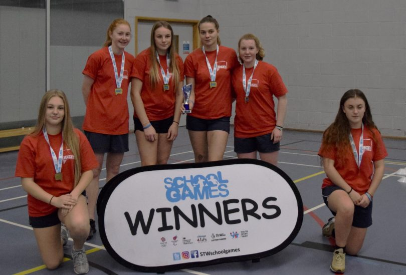 Charlton School from Telford won the girls' dodgeball competition
