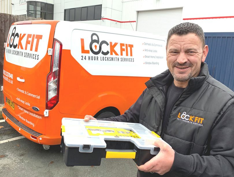 Lee Williams has set up a new venture as a lock professional, called Lockfit Telford, covering the Telford and Shrewsbury areas
