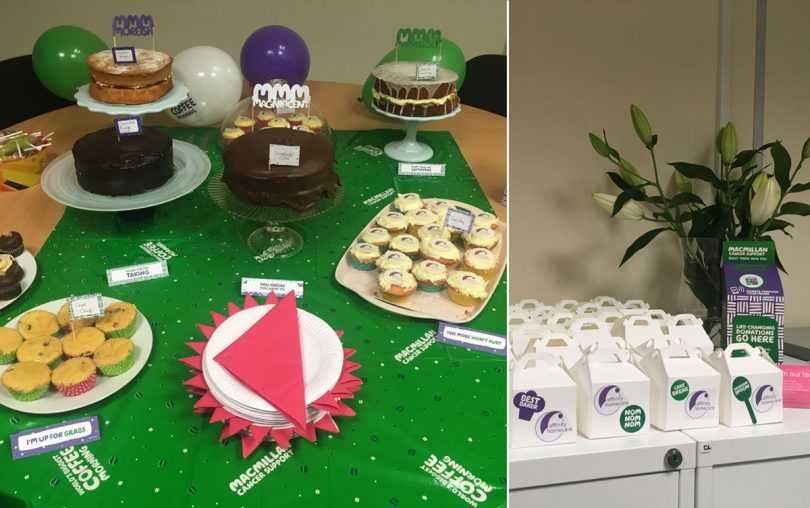 Affinity held a Macmillan Coffee Morning at their office in Bicton Heath and also delivered to clients at their homes