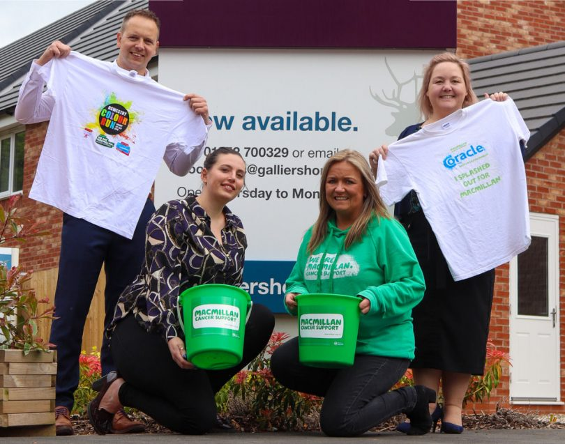 Galliers Homes have reached a £20,000 fund raising milestone for Macmillan